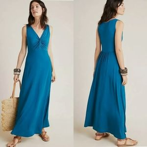 Anthropologie Camilla knotted maxi dress
